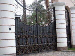 Кованые ворота фото №82