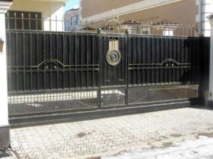 Кованые ворота фото №84
