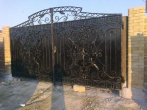 Кованые ворота фото №83