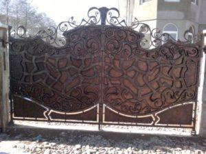Кованые ворота фото №98