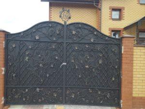 Кованые ворота фото №87
