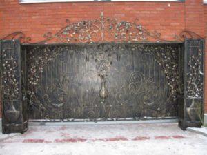 Кованые ворота фото №89