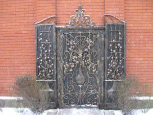 Кованые ворота фото №91