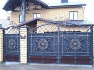 Кованые ворота фото №90