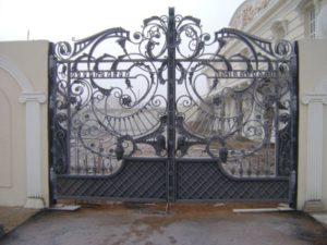 Кованые ворота фото №93