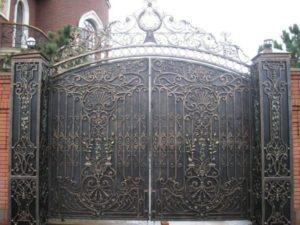 Кованые ворота фото №94