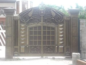 Кованые ворота фото №95