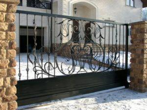 Кованые ворота фото №96