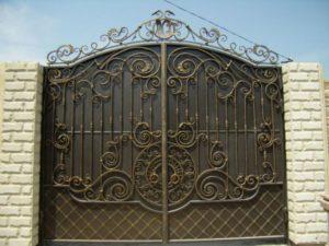 Кованые ворота фото №97