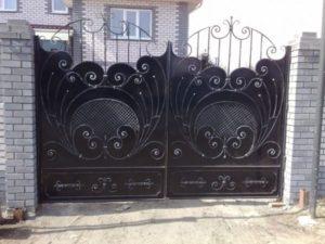 Кованые ворота фото №99