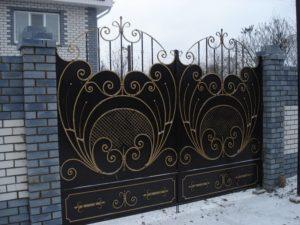 Кованые ворота фото №100