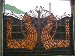 Кованые ворота фото №101