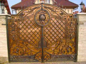 Кованые ворота фото №102