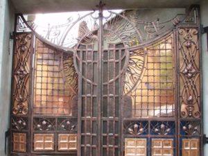 Кованые ворота фото №103