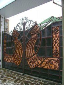 Кованые ворота фото №108