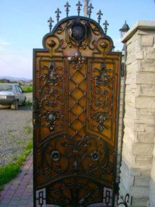 Кованые ворота фото №105