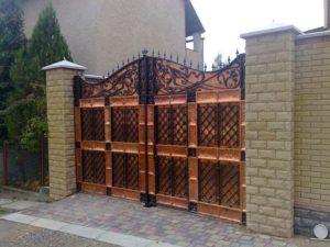 Кованые ворота фото №104