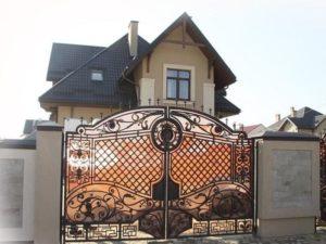 Кованые ворота фото №109