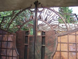 Кованые ворота фото №110