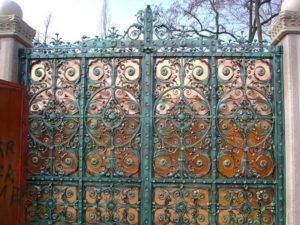 Кованые ворота фото №111