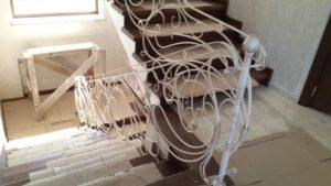 Кованые перила фото №214