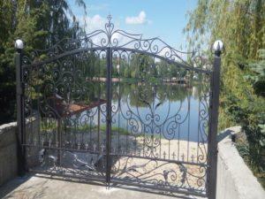 Кованые ворота фото №112