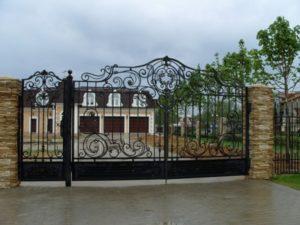Кованые ворота фото №113