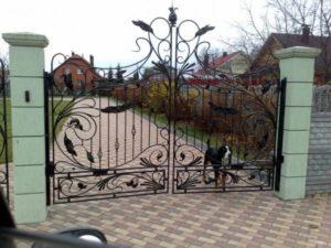 Кованые ворота фото №114