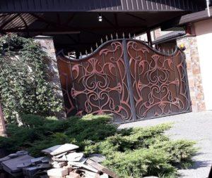 Кованые ворота фото №115
