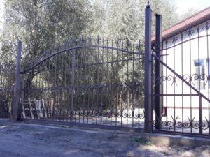 Кованые ворота фото №116