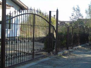 Кованые ворота фото №118