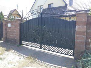 Кованые ворота фото №122