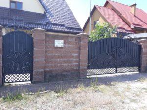 Кованые ворота фото №123