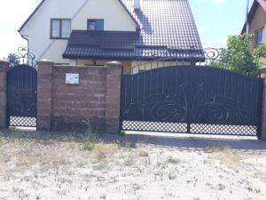 Кованые ворота фото №124