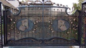 Кованые ворота фото №126