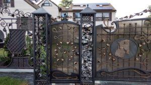 Кованые ворота фото №125