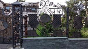 Кованые ворота фото №128