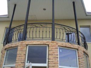 Кованые балконы фото №112