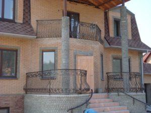 Кованые балконы фото №113