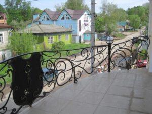 Кованые балконы фото №116