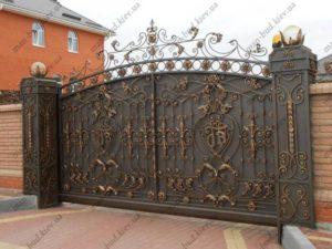 Кованые ворота фото №7
