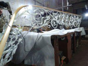 Кованые перила фото №38