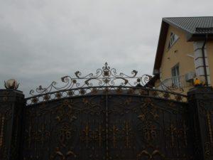 Кованые ворота фото №6