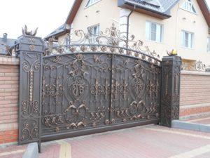 Кованые ворота фото №5