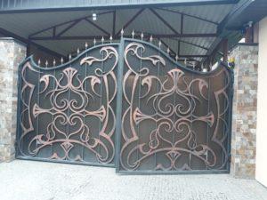 Кованые ворота фото №8