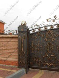 Кованые ворота фото №9