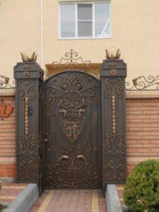 Кованые ворота фото №11