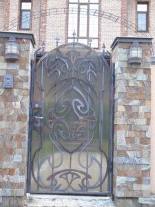 Кованые ворота фото №12