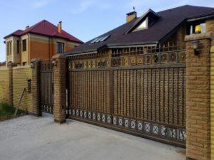 Кованые ворота фото №14