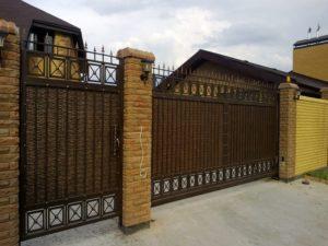 Кованые ворота фото №15
